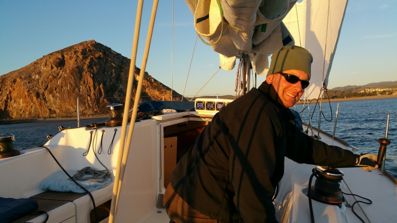 Sunset arrival into Morro Bay for a quick fuel stop.